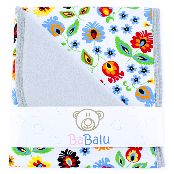 Baby fleece-cotton blanket 016 folk