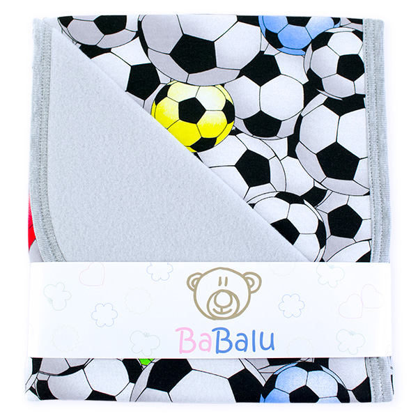 Baby fleece-cotton blanket 016 football