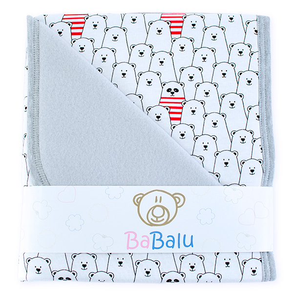 Baby fleece-cotton blanket 016 funny bears