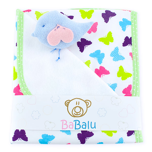 Baby fleece-cotton blanket 016 butterfly