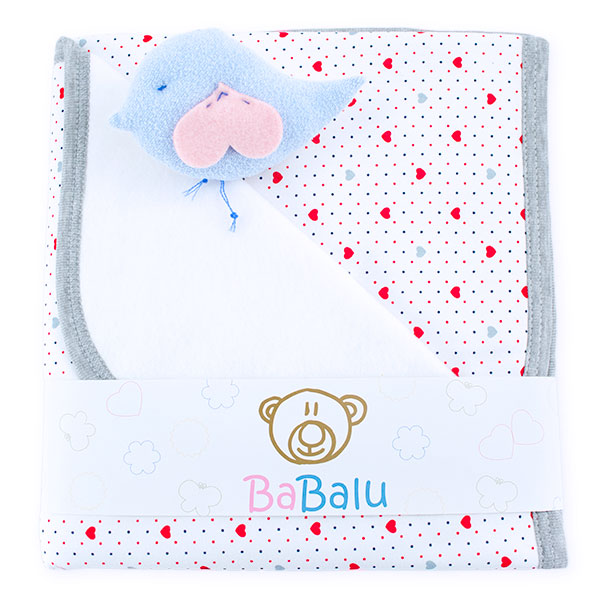 Baby fleece-cotton blanket 016 hearts