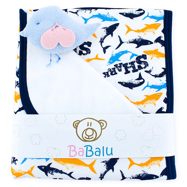 Baby fleece-cotton blanket 016 shark