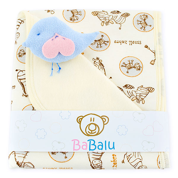 Baby fleece-cotton blanket 016 zoo
