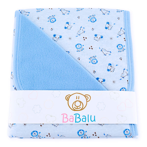 Baby fleece-cotton blanket 016 africa