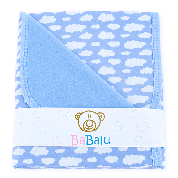 Baby fleece-cotton blanket 016 clouds