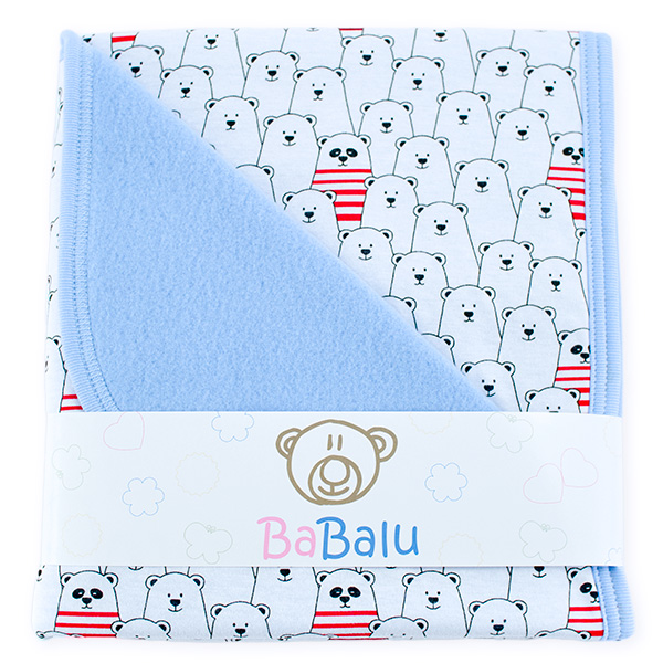 Baby fleece-cotton blanket 016 bear