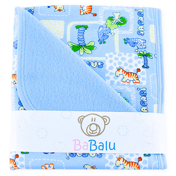 Baby fleece-cotton blanket 016 safari
