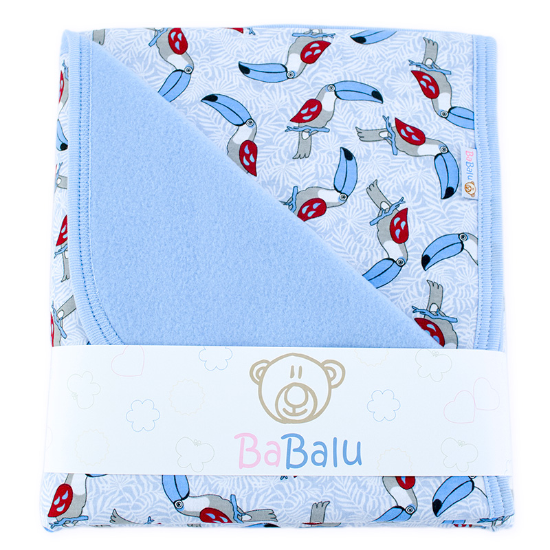 Baby fleece-cotton blanket 016 toucans