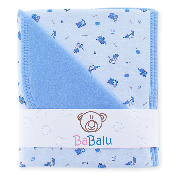 Baby fleece-cotton blanket 016 crocodiles