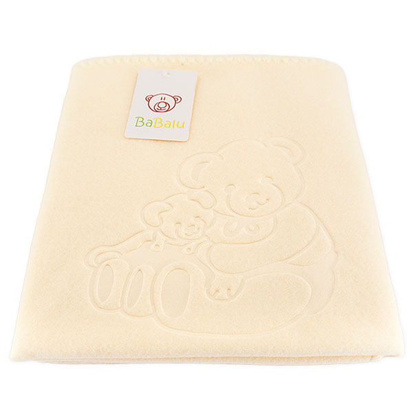 Baby fleece blanket 035 ecru 85x110