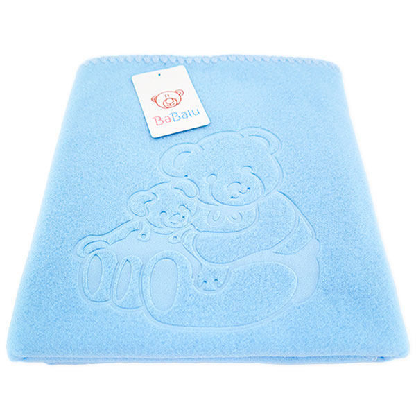 Baby fleece blanket 035 blue 85x110