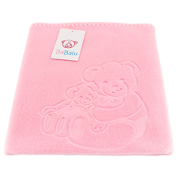Baby fleece blanket 035 pink 85x110