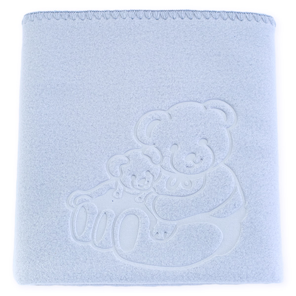 Baby fleece blanket 035 grey 85x110