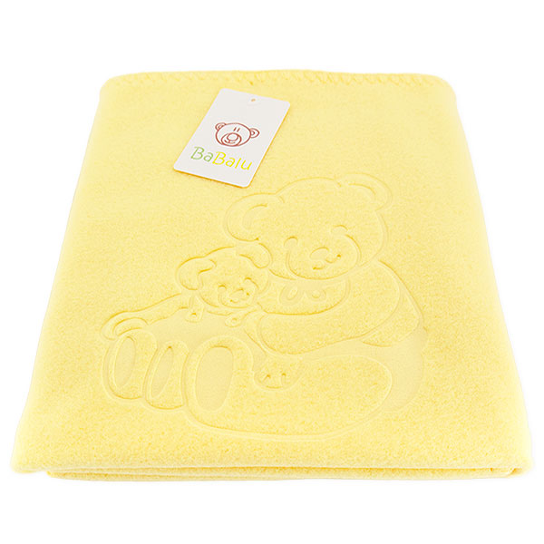 Baby fleece blanket 035 yellow 85x110