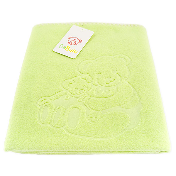 Baby fleece blanket 035 green 85x110
