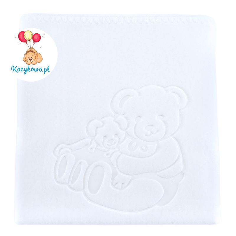 Baby fleece blanket with dedication 035 white 85x110