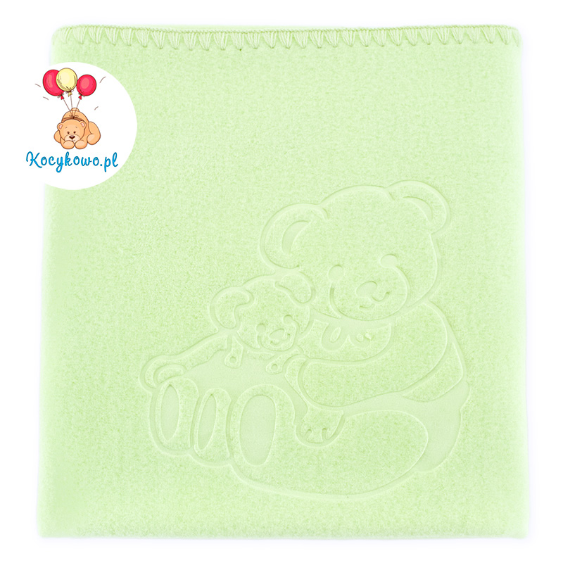 Baby fleece blanket with dedication 035 green 85x110