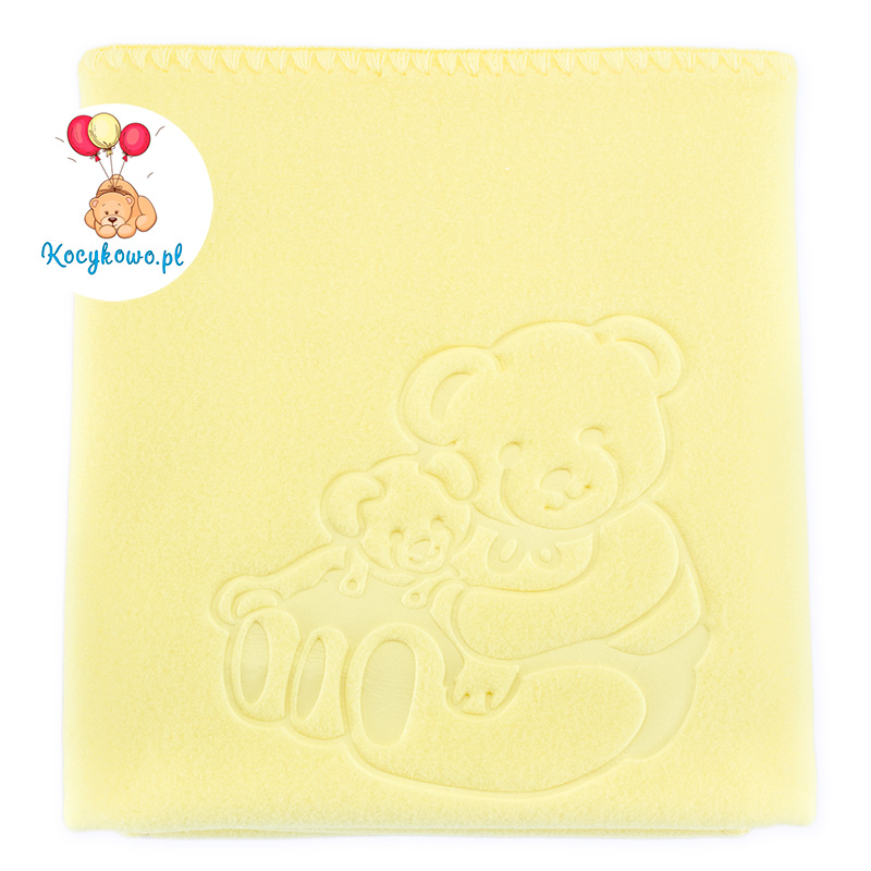 Baby fleece blanket with dedication yellow