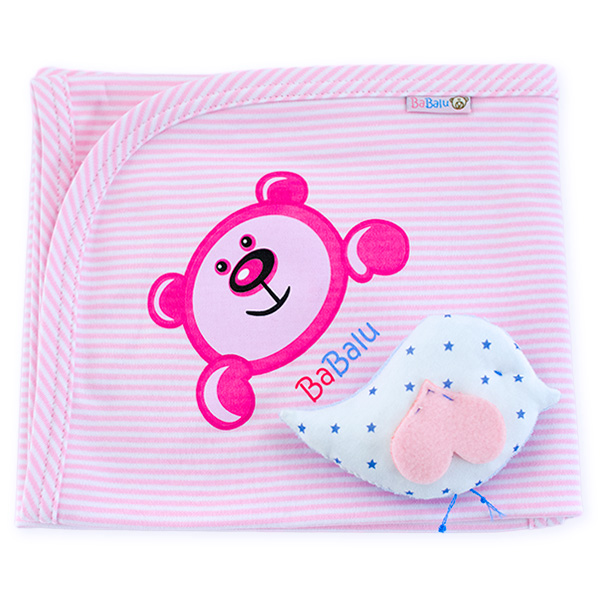 Cotton blanket BaBalu 031 pink 80x90