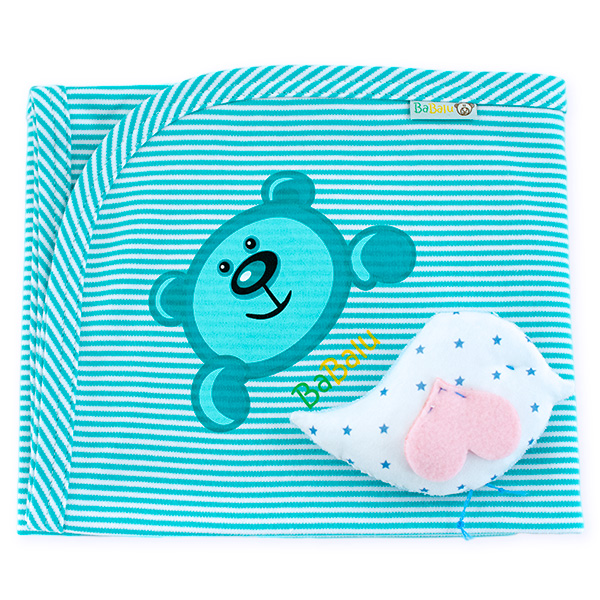 Cotton blanket BaBalu 031 aquamarine