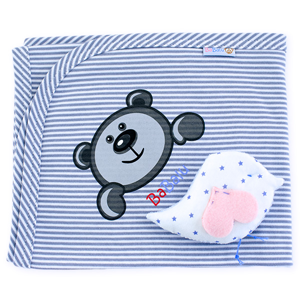Cotton blanket BaBalu 031 grey