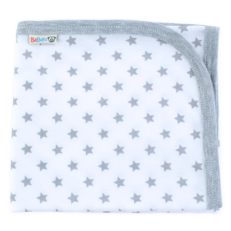 Printed cotton blanket 057 stars