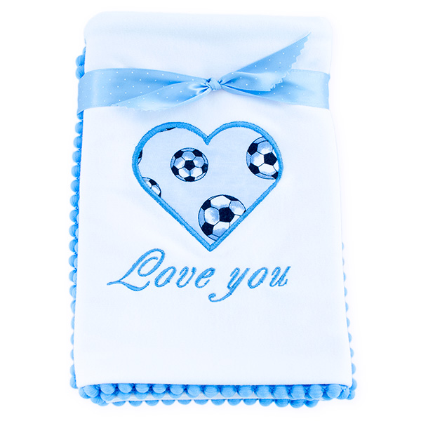 Cotton blanket Love you 071 footballs