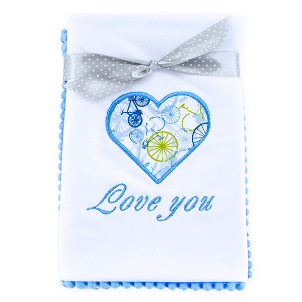 Cotton blanket Love you 071 bicycles 80x80