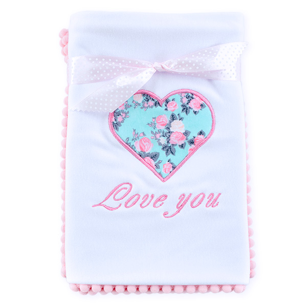 Cotton blanket Love you 071 roses 80x80