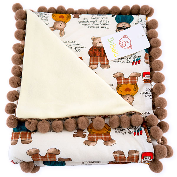 Cotton blanket Sophie 072 bear 80x90