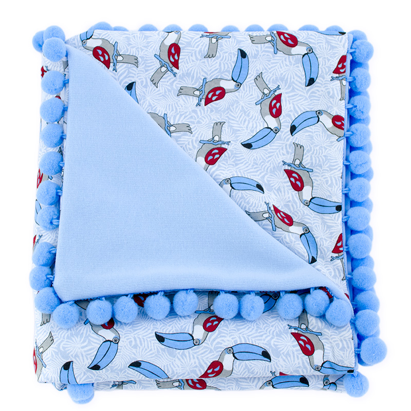 Cotton blanket Sophie 072 toucans 80x90