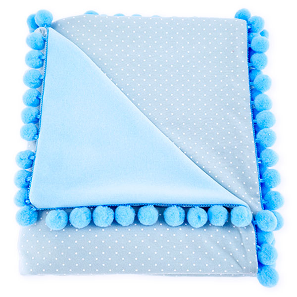 Cotton blanket Sophie 072 dots 80x90