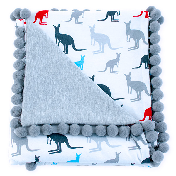 Cotton blanket Sophie 072 kangaroos 80x90