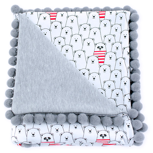 Cotton blanket Sophie 072 funny bears 80x90