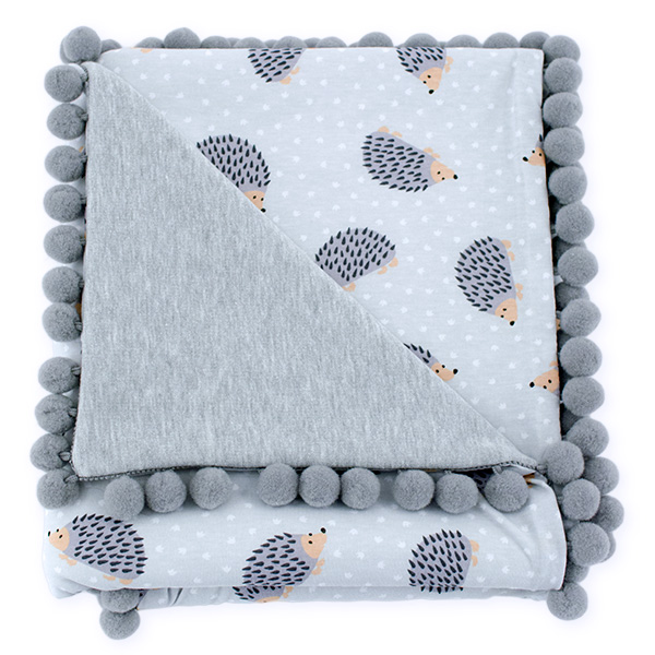 Cotton blanket Sophie 072 hedgehog 80x90