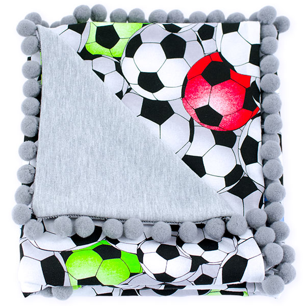 Cotton blanket Sophie 072 football 80x90