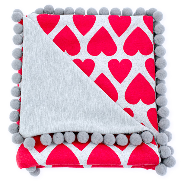 Cotton blanket Sophie 072 hearts 80x90