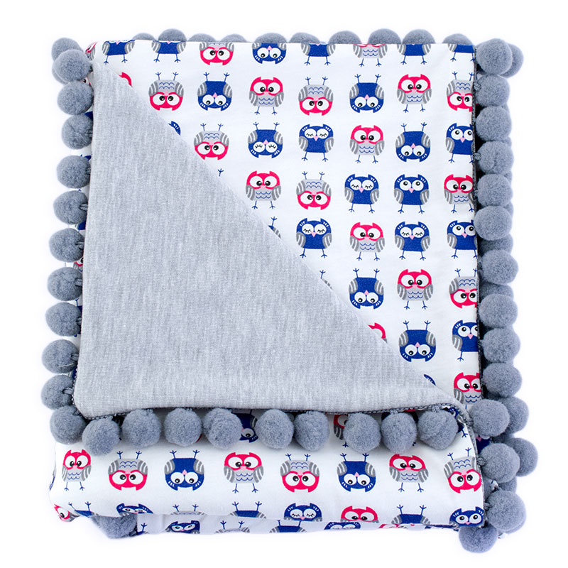 Cotton blanket Sophie 072 owls 80x90