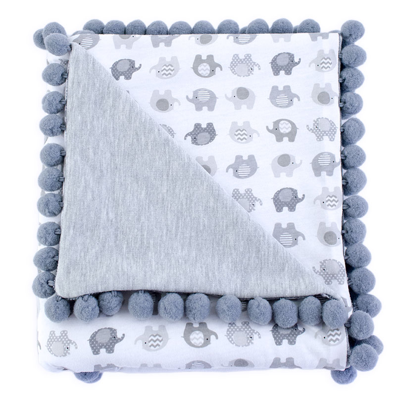 Cotton blanket Sophie 072 elephants 80x90