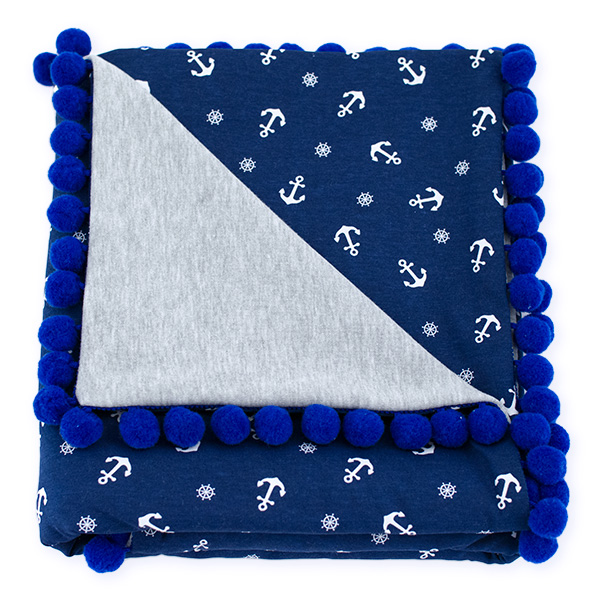 Cotton blanket Sophie 072 marine 80x90