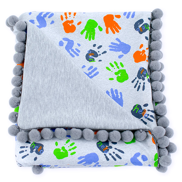 Cotton blanket Sophie 072 Hello 80x90