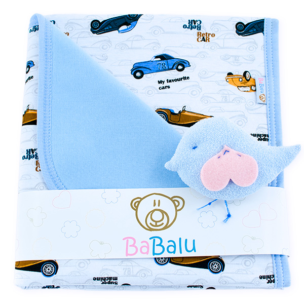 Cotton blanket Sophie 073 retro cars 80x90