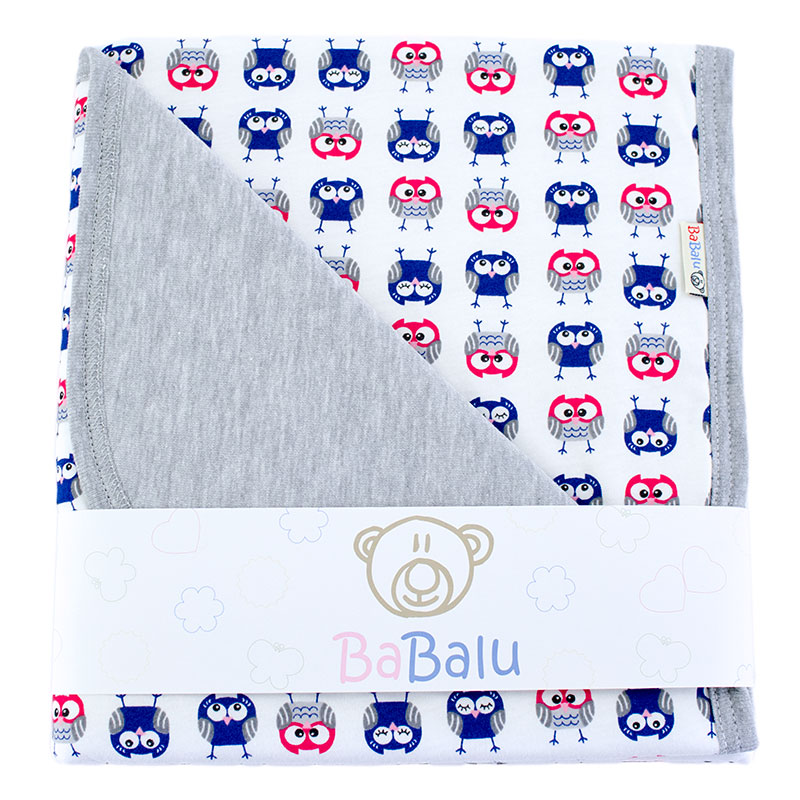 Cotton blanket Sophie 073 owls 80x90