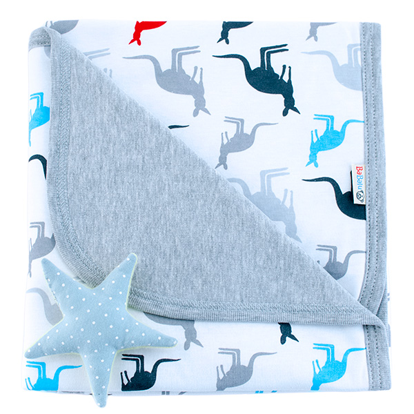 Cotton blanket Sophie 073 kangaroos 80x90
