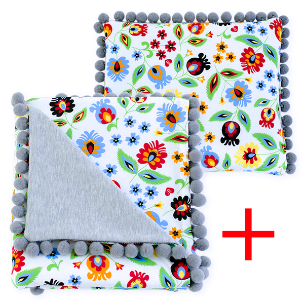 Cotton set (blanket+pillow) 080 Sophie folk 80x90+28x34