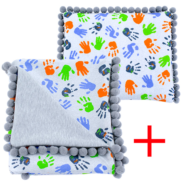 Cotton set (blanket+pillow) 080 Sophie hello 80x90+28x34