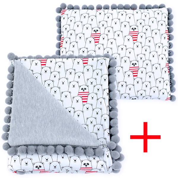Cotton set (blanket+pillow) 080 Sophie funny bears 80x90+28x34