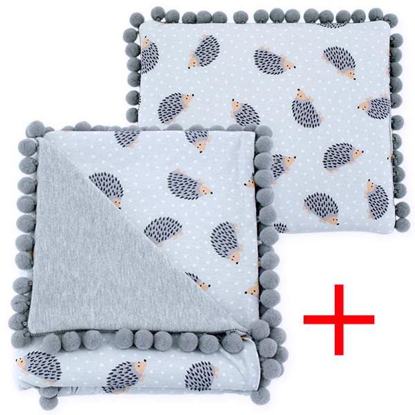 Cotton set (blanket+pillow) 080 Sophie hedgehog 80x90+28x34