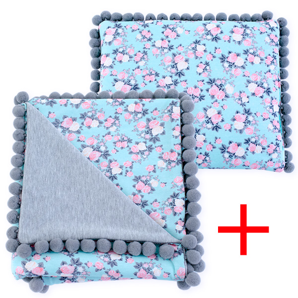 Cotton set (blanket+pillow) 080 Sophie roses 80x90+28x34