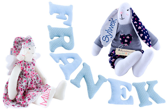 handmade cuties, cuddly toys, letters